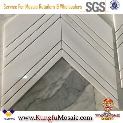 Pfeilform Marmor Mosaikfliesen für Küche Backsplash Großhandel
