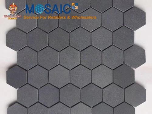 Tuile de mosaïque de basalte