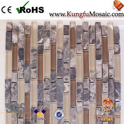 Смешанная мраморная и стеклянная мозаичная плитка