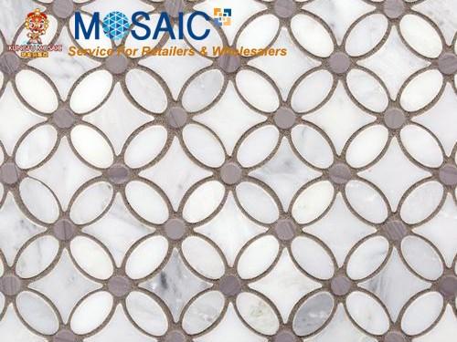 mosaïque de marbre naturel